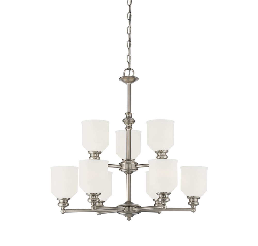 RGU 1-6838-9-SN 9X60M Melrose Satin Nickel Chandelier