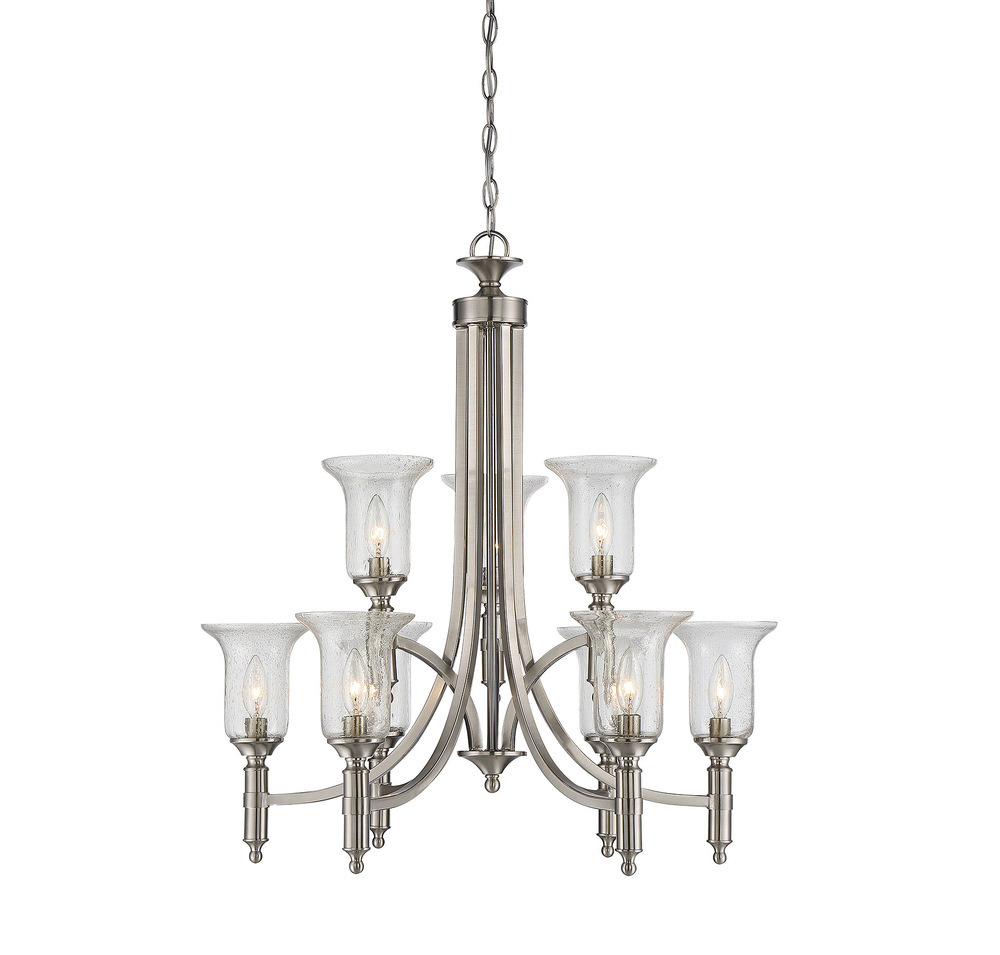 RGU 1-7131-9-SN Trudy 9 Light Chandelier 9X60Candelabra