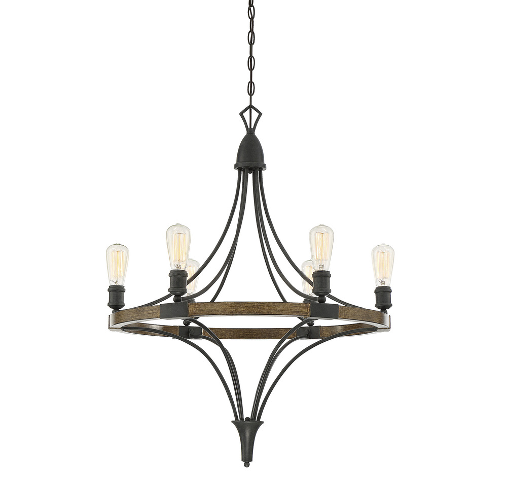 RGU 1-9111-6-68 Turing 6 Light Chandelier 6X60Edison