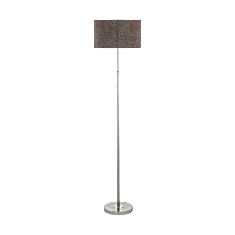 "EGLO 95344A Romao2 1Lt Satin Nickel/Chrome LED Floor Lamp 63""L x 15""D 24W integrated lamp included"
