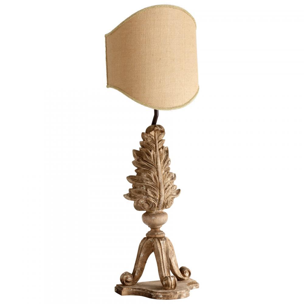 CYAN 05250 1X100M Sutherland Buff Dark Cotton Shade Table Lamp