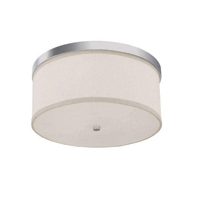 "CPL 2015PN-480 Midtown 3Lt Polished Nickel Flush Mount 15.75""W X 7.25""H 40W Med lamp not included NEWSTOCK AUG 2019"