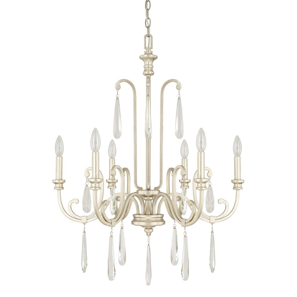 "CPL 413662WG Winter Gold 6 Light Chandelier 6-60W-C 27""W x 35""H NEWSTOCK SEP 2019"
