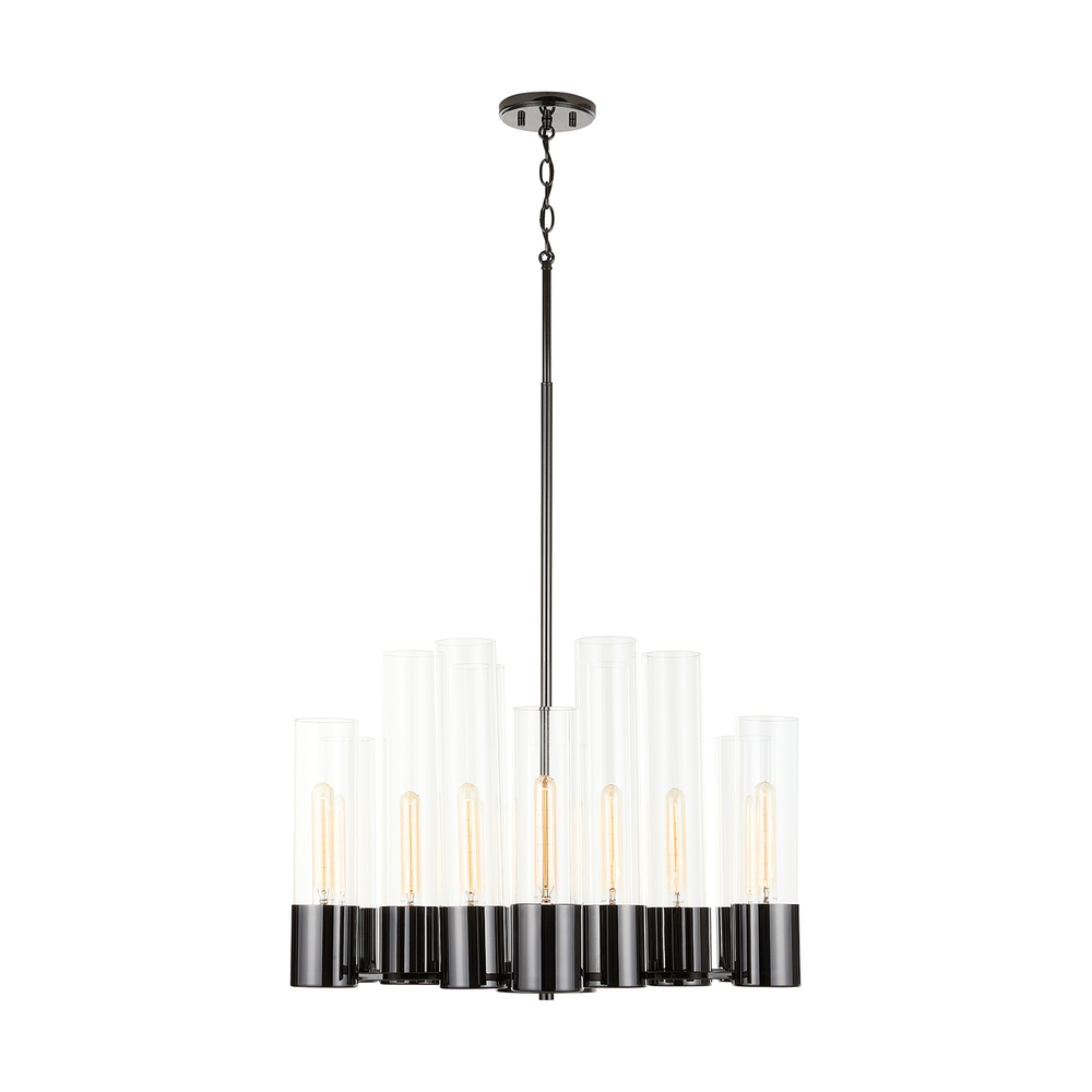 CPL 432601BC 12M-100W BLACK CHROME LOGAN CHANDELIER NEWSTOCK AUG 2019