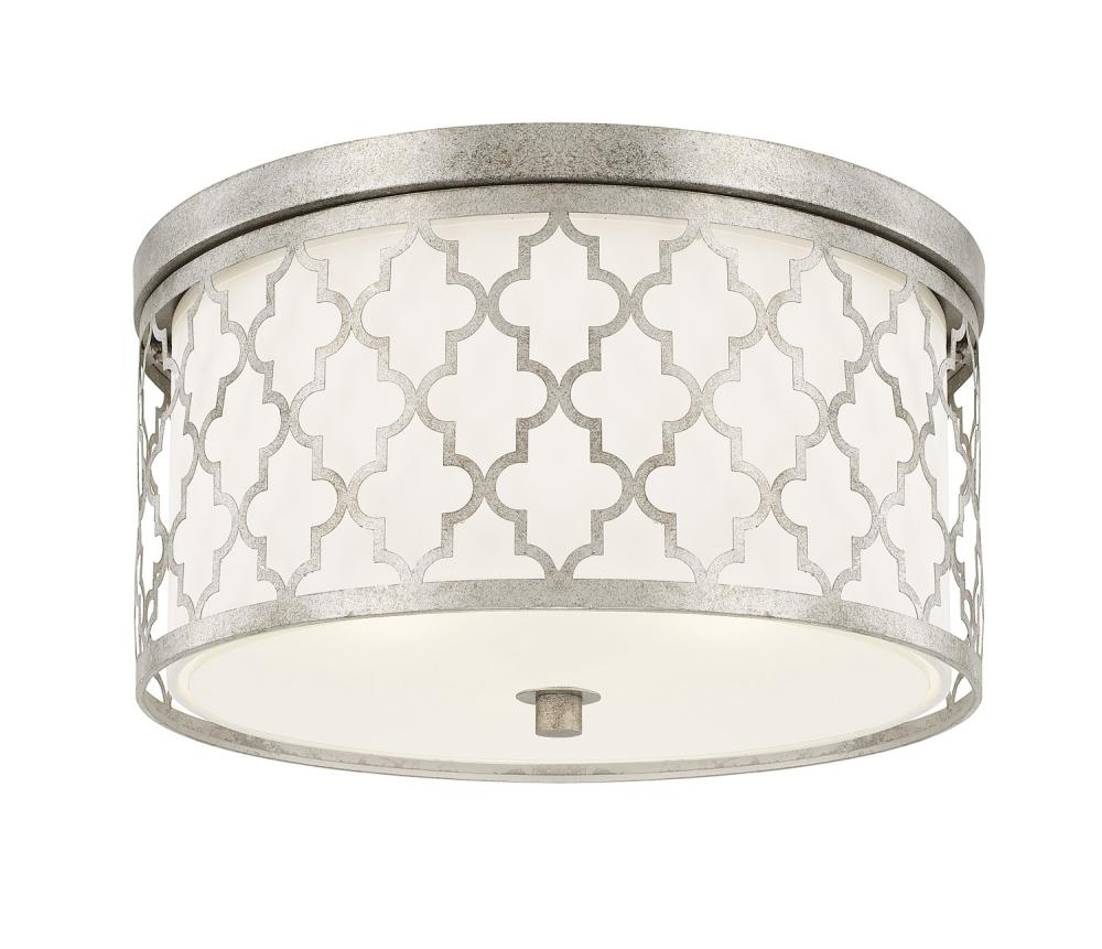 """CPL 4549AS Antique Silver 3 Lighting Ceiling 3 - 60W-M 16""""W 8.5""""H"""