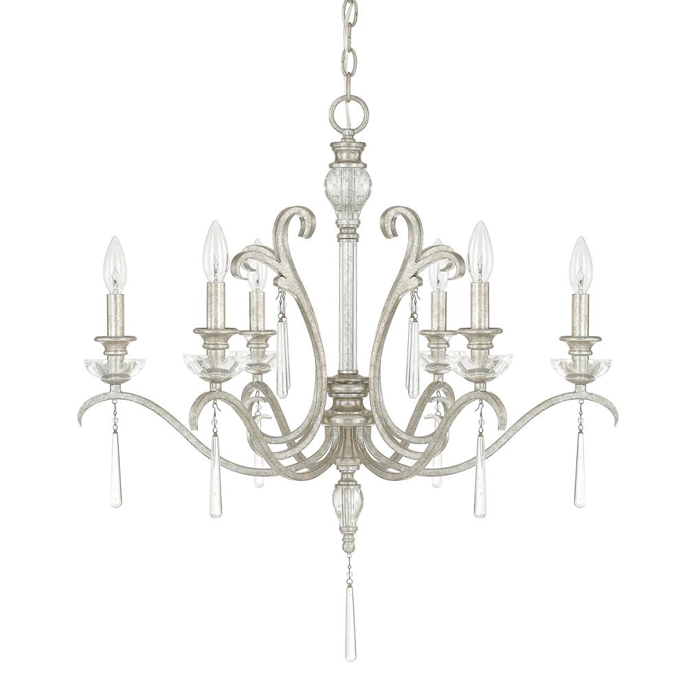 CPL 4786AS-000 6 Light Chandelier 6X60C