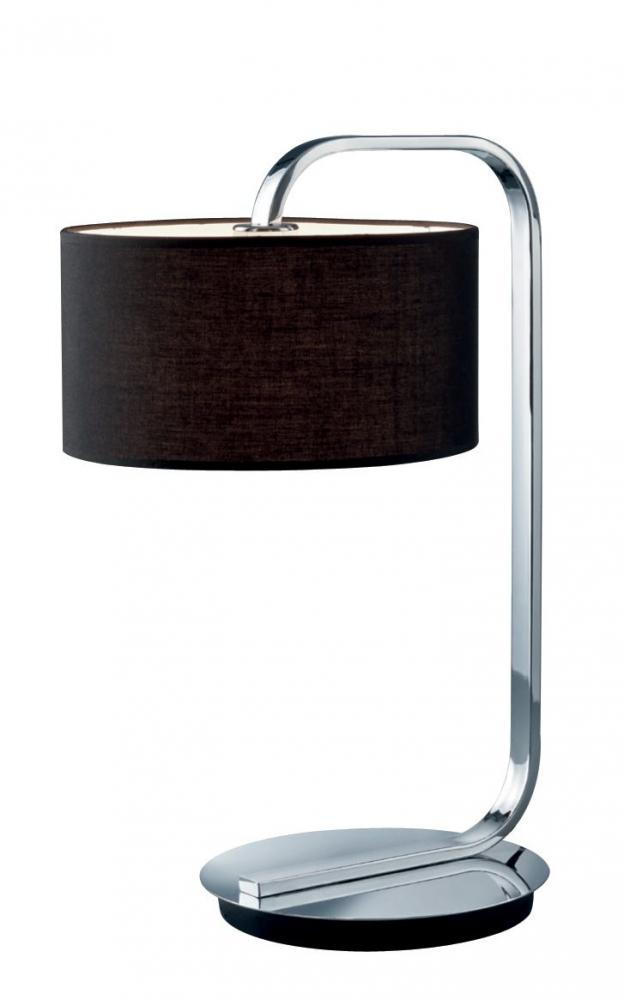 ARG 500100106 Cannes Chrome w/Black Shade Table Lamp NEWSTOCK MAY 2019