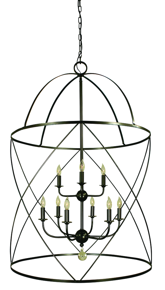 FRA 4419MB Nantucket 6X60C Mahogany Bronze Chandelier