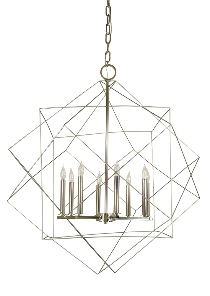 """FRA 4708MB/AB Mahogany Etoile 8Lt Mahogany Chandelier 36""""W x 41""""H 60W Candelabra lamp not included"""