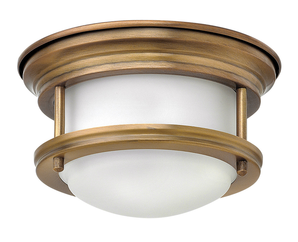 "HIN 3308BR Hadley 1Lt Brushed Bronze LED Flush Mount 7.75""W x 4""H lamp included"